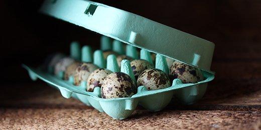 Eierschachteln aus Pappe