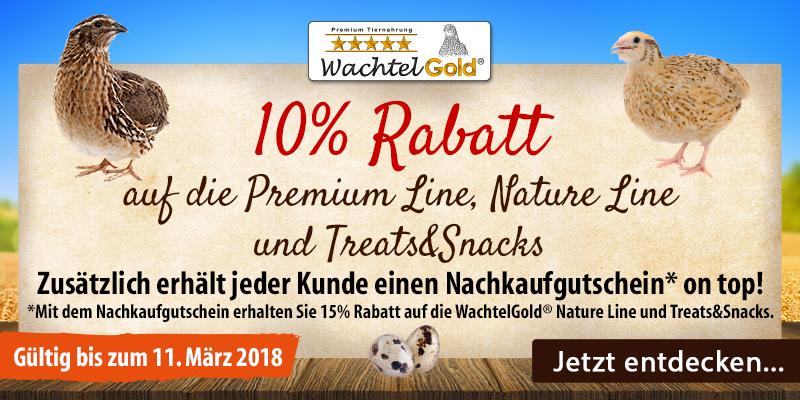 WachtelGold® - Die neue Premiumfutter-Marke!