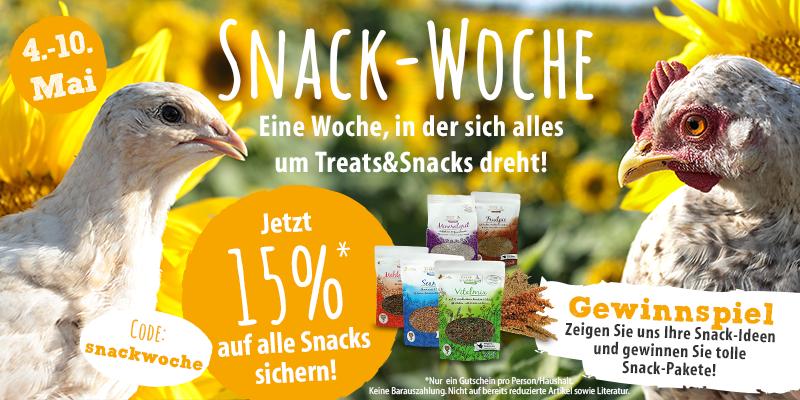 15% auf alle Snacks und tolle Snack-Pakete gewinnen!