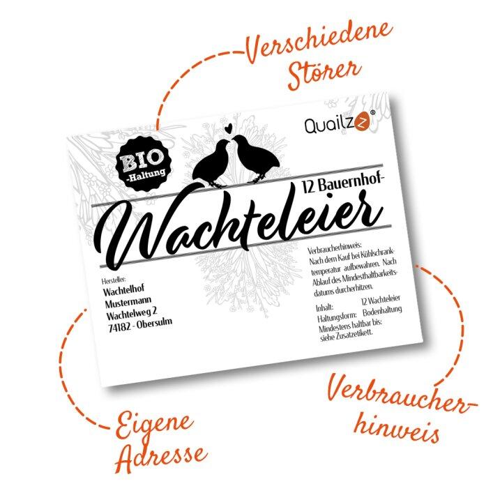 Individuelle Profi-Etiketten für 12er Pappschachteln (9x7cm)