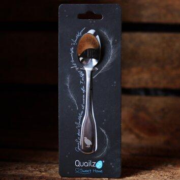 Wachteleierlöffel mit Gravur