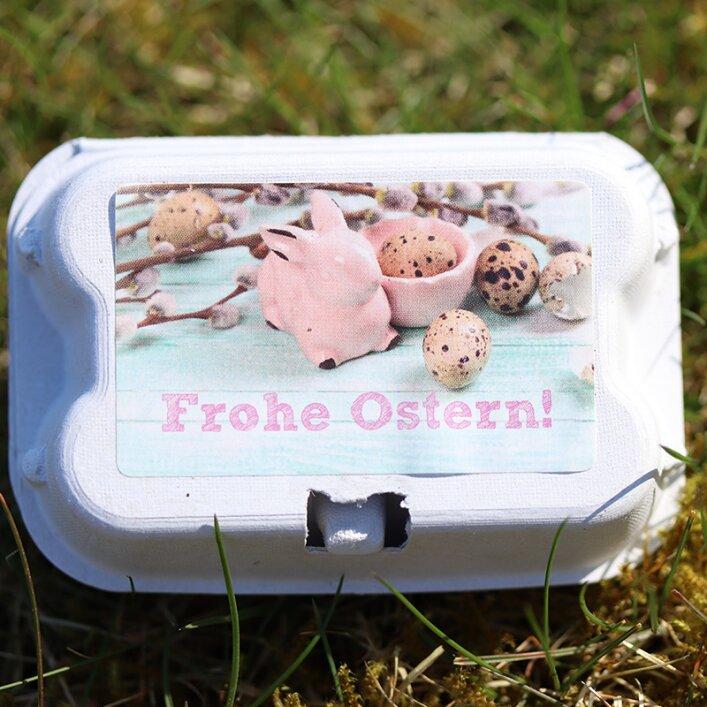 """Etiketten für 6er Pappschachteln - """"Ostern"""""""