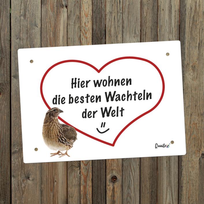 """Beste Wachteln"" - Wachtel-Schild A5"
