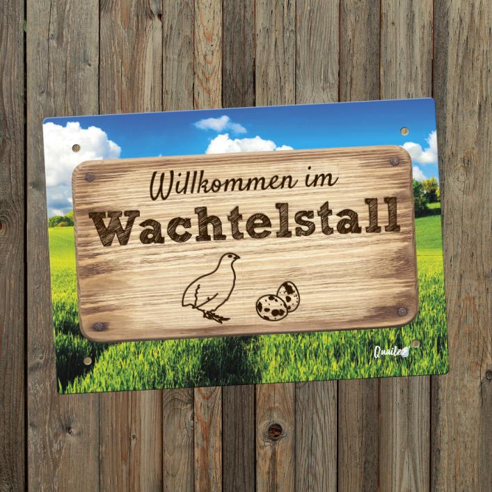"""""""Wachtelstall"""" - Wachtel-Schild A5"""