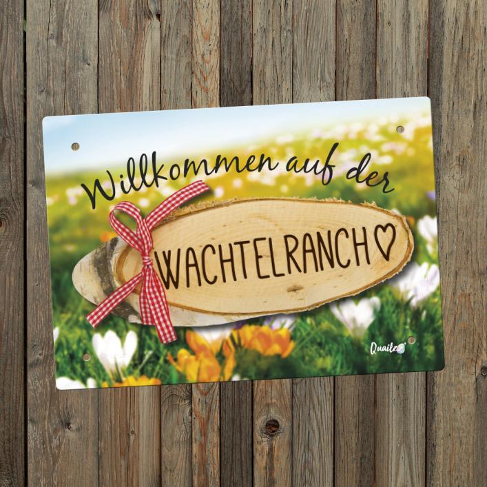 """""""Wachtelranch"""" - Wachtel-Schild A5"""