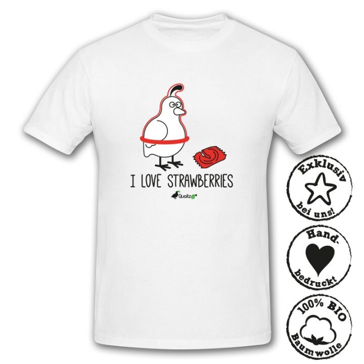 Quailzz® BIO Shirt Strawberries - Men