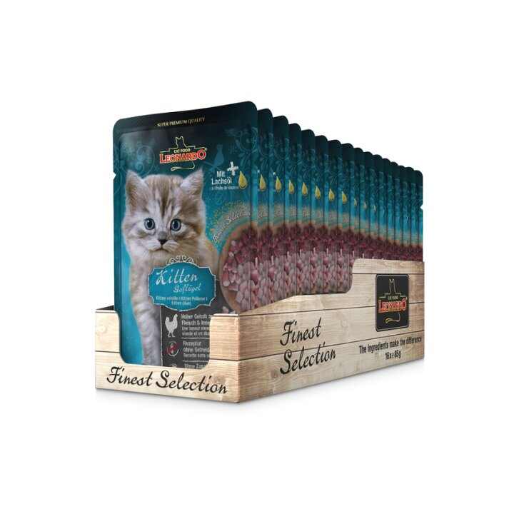Leonardo Finest Selection Kitten Geflügel 16x85g