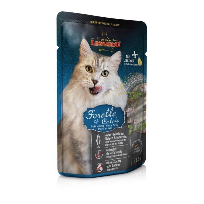 Forelle + Catnip 16x85g | Leonardo Finest Selection