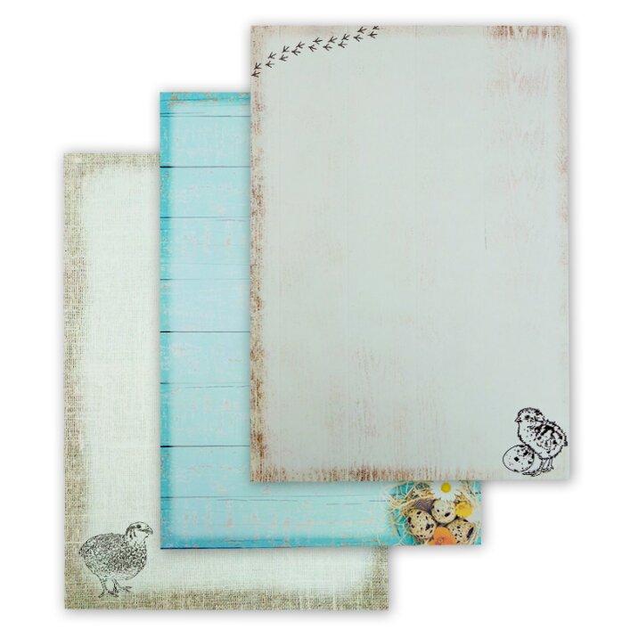 3-er Set DIN A4 Blöcke Briefpapier | Quailzz®