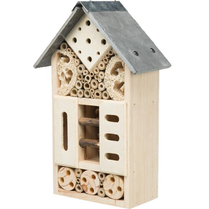 Bienen Bienenhotel Insekten Wildbienen Grabwespen Mauerbienen Wespen Holz Sonne