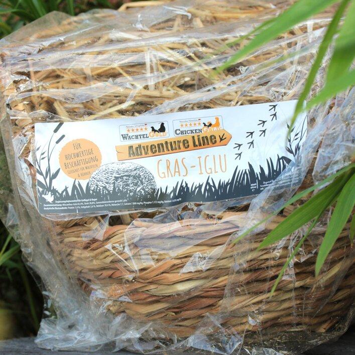 Gras-Iglu mit Strohfüllung 470g