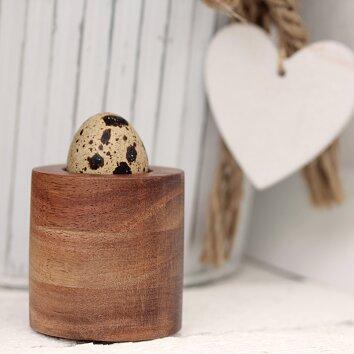 Wachteleierbecher aus Akazienholz -rund- | Quailzz®