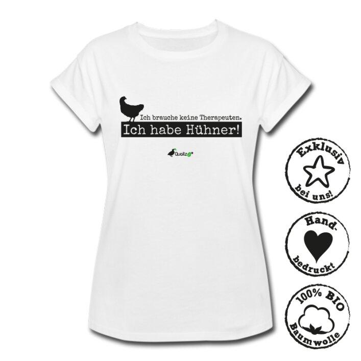 "Quailzz® BIO Shirt ""Therapeuten Hühner"" - Women"
