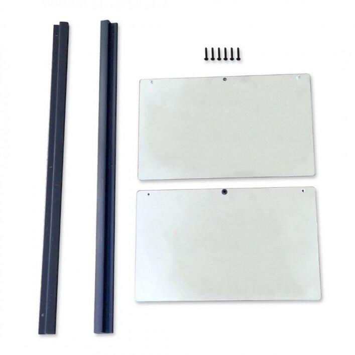 ChickSafe 2-teilige Türe mit PVC-Schienen