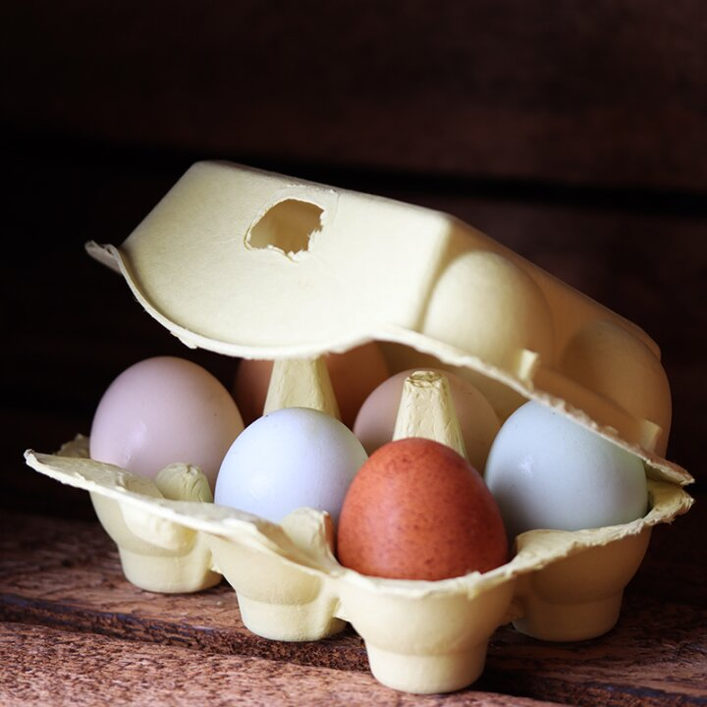 6er Hühnereierschachtel Pappe - Pina Colada