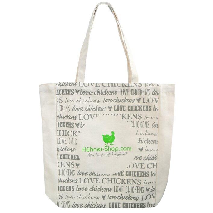 """Stofftasche """"Love chickens"""" Hühner-Shop"""
