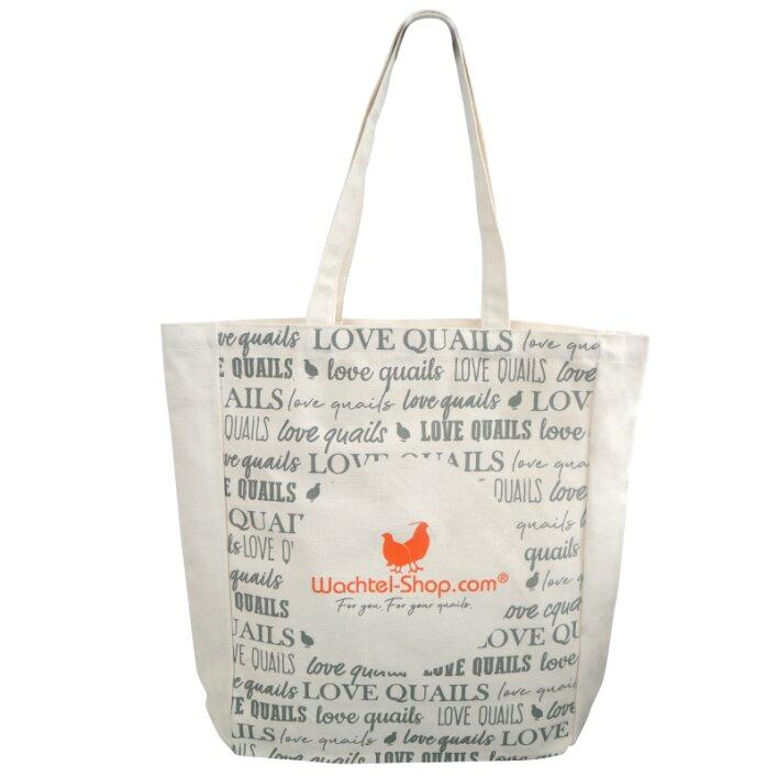 "Stofftasche ""Love quails"" Wachtel-Shop"